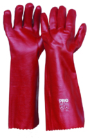 Single Dipped 45cm PVC Glove Red 45cm