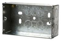 2 Gang 47mm deep Galvanised Steel K.O Box