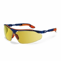 Uvex I-VO Brown Lens Spec, Blue/Orange