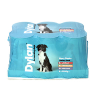 Dylan Working Dog Variety Pack Super Size Cans 1200g x 6 [Zero VAT]