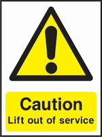 Lift Safety Sign LIFT0004-0798
