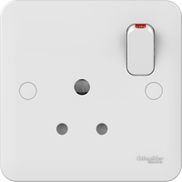Schneider LWM 1 gang 5A round pin switched socket ou