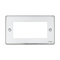 Schneider Ultimate Low Profile 4mos euro plate Polished Chrome  | LV0701.0073