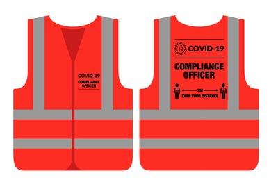 COVID-19 Compliance Officer Red Vest