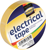 ELECTY33 19MM X 33M YELLOW INSULATING TAPE X 10