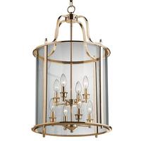 8 Light Panel Lantern Antique Brass