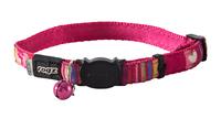 Rogz Neocat Cat Collar - Pink Candy Stripes x 1