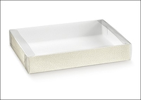 BOX W/PVC BOX 155X115X40MM SOFT WH[10]
