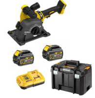 Dewalt DCG200T2 54V XR Flexvolt Wall Chaser 5'' 125mm C/W 2 x 6.0Ah Batteries & Charger In T-stak Box ***EXPECTED DELIVERY AUGUST/SEPTEMBER***