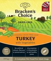 Bracken's Choice GRAIN FREE Dog Trays - Turkey & Veg 395g x 10