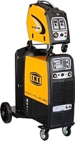 INE SKYLINE KMP5000 SYNERGIC PULSED 3ph 400V 32A MMA/TIG/MIG WELDER  C/W TY4 WIRE FEED UNIT, 2MTR INTERCONNECTOR CABLE, WATERCOO
