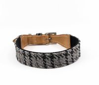 Ralph & Co Tweed & Leather Collar - Henley Grey Large x 1