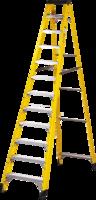 12 Step Single-Sided Fibreglass Step Ladder