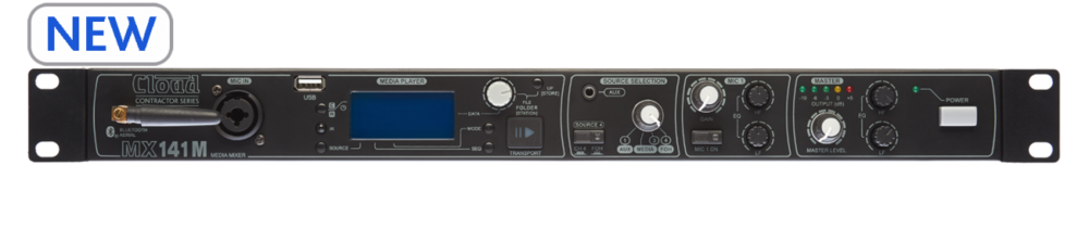 Cloud MX141M Cloud Contractor Series - 1 Output, 4Line/Media Inputs + 1Mic Input Mixer, 1U