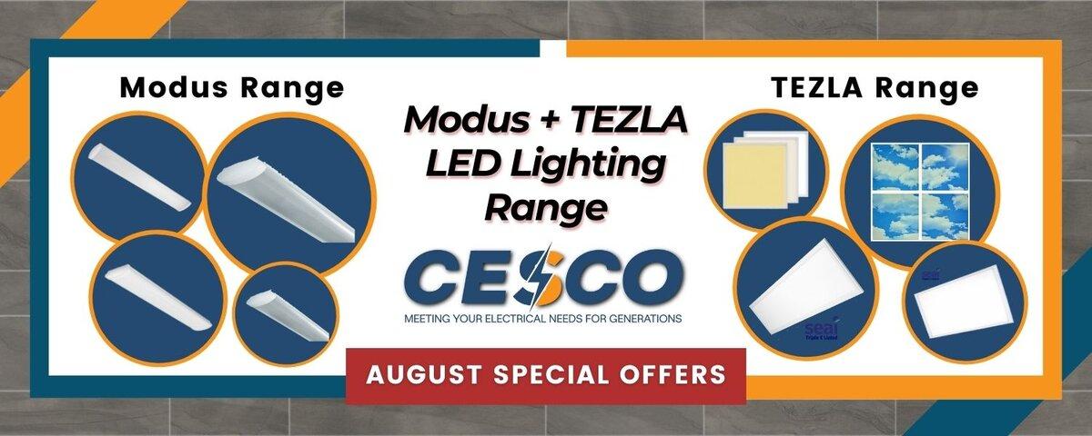 Modus & Tezla LED Lighting Range