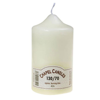 130mm (5'') Chapel Candle Ivory