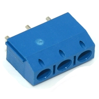 TERMINAL BLOCK CONNECTOR 15x10mm 3 PINS SCREW BLUE PLUGGABLE TYPE