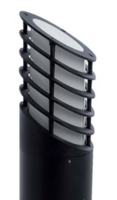 LEO BLACK 100W E27 BOLLARD