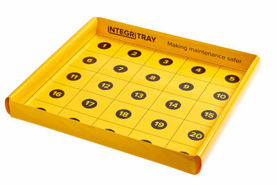 IntegriTray Component Management Tray - Yellow