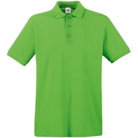 Fruit of the Loom Lime Premium Cotton Polo Shirt