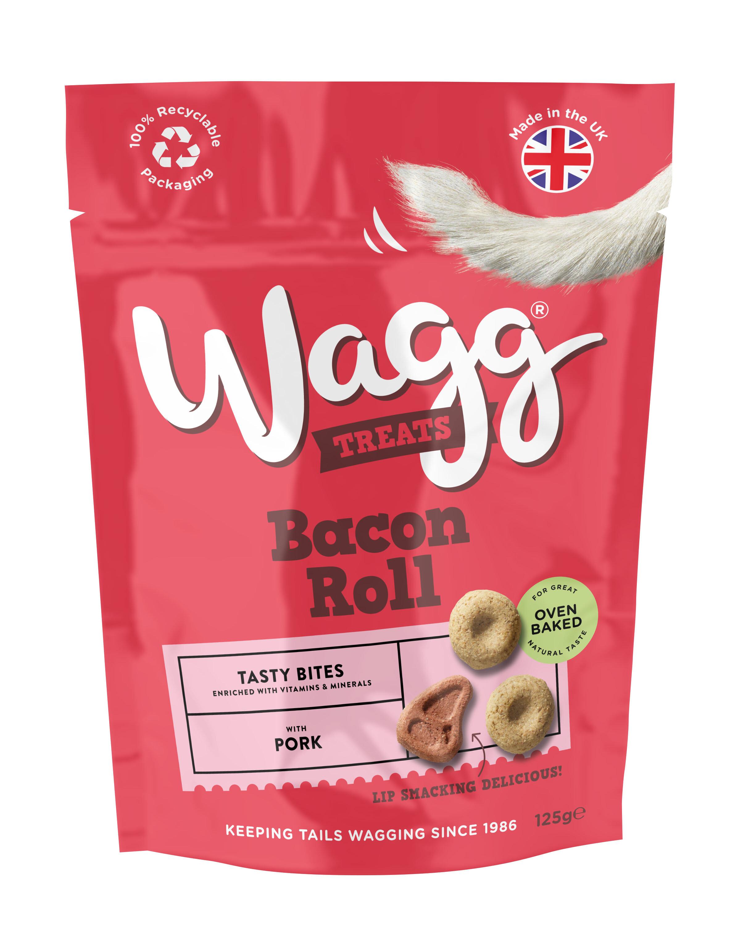Wagg Dog Treats Bacon Roll 125g x 7