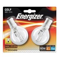 ENERGIZER ECO HALOGEN 42W (60W) B15 CLEAR GOLF BALL LAMP CARD 2