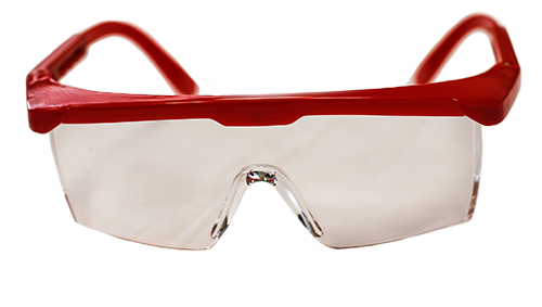DMI Adult Safety Glasses Red Frame - DMI Dental Supplies Ireland - Next Day Delivery