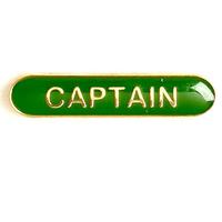 Captain - Bar Shaped School Badge (Green)