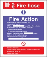 Fire Action Sign FACT0005-0442
