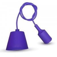 Purple Silicone Pendant