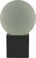 12cm Crystal Award with Golf Ball | TC30