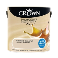 CROWN MID SHEEN TOASTED ALMOND 2.5L