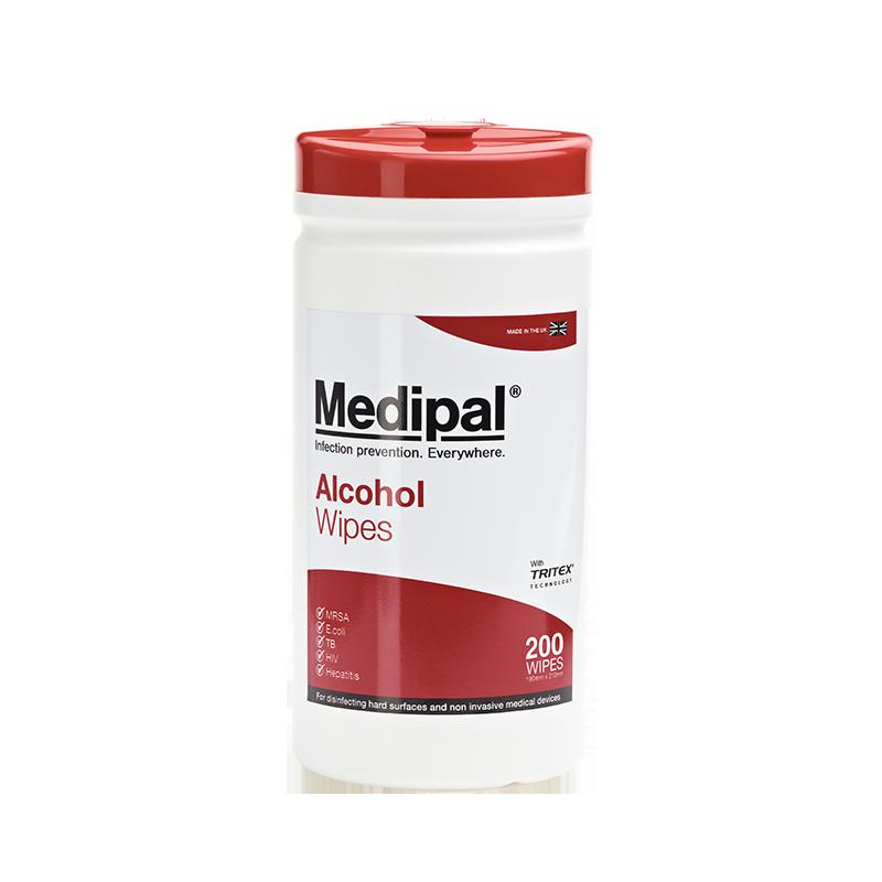 Pal International Medipal Alcohol Wipes Pk200 - DMI Dental Supplies Ireland