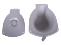 Commode Bucket and Lid for M2 Shower Chair