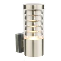 SAXBY TANGO 1X11 WATT E27 CFL Outdoor Garden Wall Lantern Light Stainless Steel IP44 240V