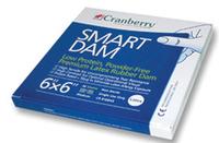 CRANBERRY RUBBER DAM BLUE 6X6 MEDIUM - PK36-LATEX