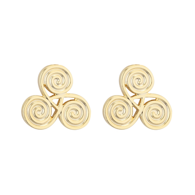 RHODIUM SPIRAL STUD EARRINGS
