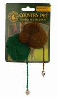 Country Pet Cat Toy - Wool Mouse 2-Pk x 1
