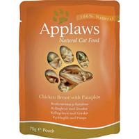 Applaws Cat Pouch Chicken & Pumpkin 70g x 12