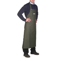 Waterproof Bib Apron - Pvc With Polyester Reverse