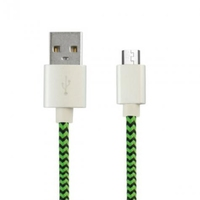 Ksix Micro USB Braided Cable Green