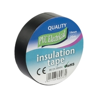 19mm x 20m Electrical PVC Black Tape           (TGPVT20D)