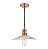 Adeline 1 Light Pendant, Brushed Copper | LV1802.0045