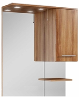 Sonas Belmont 80cm Walnut LED Mirror