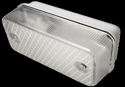 glass bulkhead 100w grey metal base