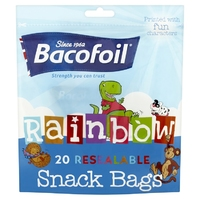 Bacofoil Rainbow 20 Resealable Snack Bags 85B29