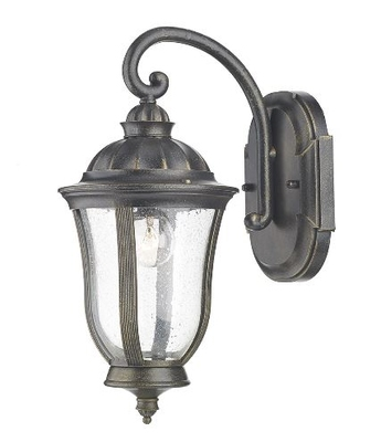 Johnson Wall Bracket Lantern IP44, Black Gold    LV1802.0163