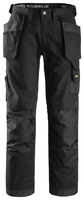 Snickers Black 3214 Canvas+ Holster Work Trousers