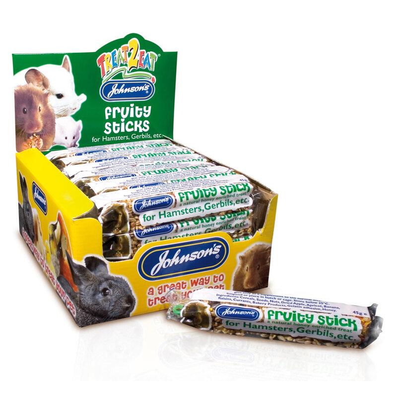 JVP Hamster & Gerbil Fruity Sticks x 28