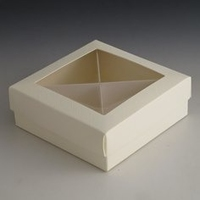 small cream gift box